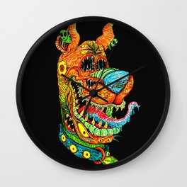 Trippy Dog Wall Clock