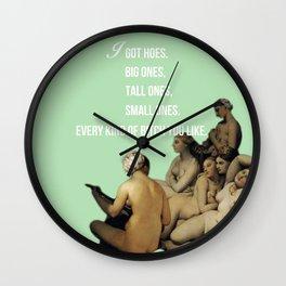 Bitches & Monet - 50 Cent VS Ingres Wall Clock