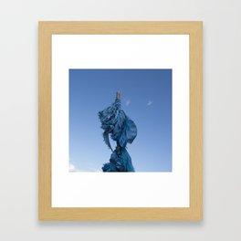 Sacred Blue Framed Art Print