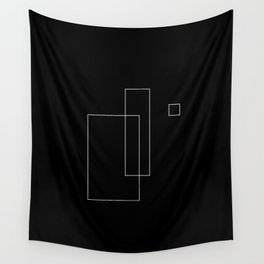 Simple Black Wall Tapestry
