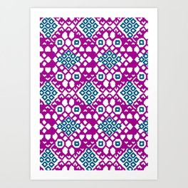 Purple Embroidery Art Print