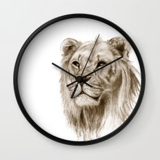 A Lion :: Without Pride Wall Clock