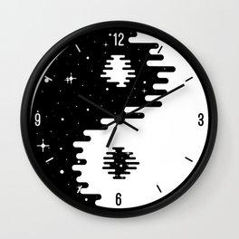 Spacey Yin Yang Wall Clock