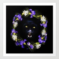 givenchy Art Prints featuring GIVENCHY Panther by V.F.Store