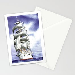 Tall Ship at Sea Stationery Cards