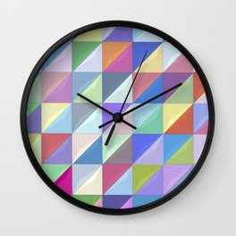 Geometric Shapes I Wall Clock