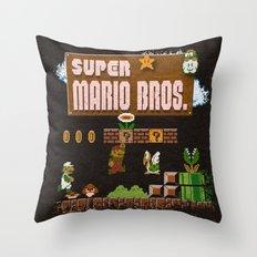 Mario Super Bros Throw Pillow