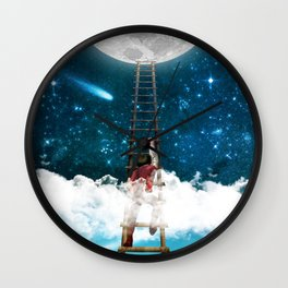 Reach for the Moon v2 Wall Clock