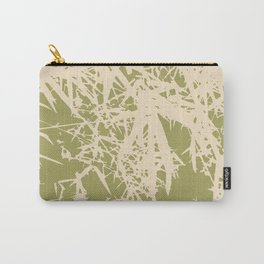 Bamboo branches and leaves in beige Carry-All Pouch