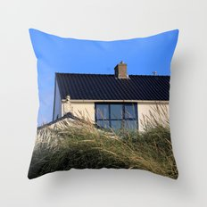 house in the dunes Throw Pillow