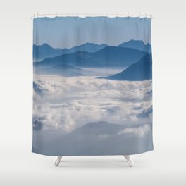 Follow me into the clouds #plane #air Shower Curtain
