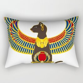 Winged Bast w/Ankh Rectangular Pillow