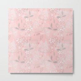 Pink floral pattern 2 Metal Print