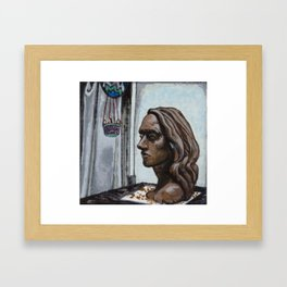 Portrait Sculpture Framed Art Print