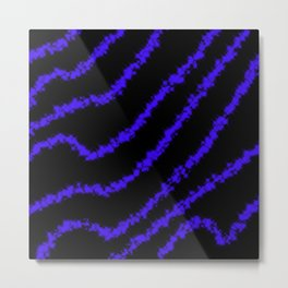 Sparkle Blue Metal Print
