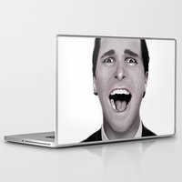 american psycho Laptop & iPad Skins featuring American Psycho by Alexia Rose