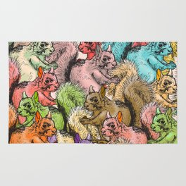 Squirrels Parade Rug