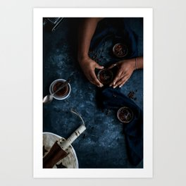 Ethiopian Coffee Brûlée [Blue Scale] Art Print