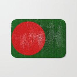 Bangladesh Distressed Halftone Denim Flag Bath Mat