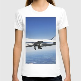 NASADLR Stratospheric Observatory for Infared Astronomy (SOFIA) 747SP cruises over central Texas on T-shirt