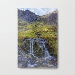 Lake Idwal Stream Metal Print