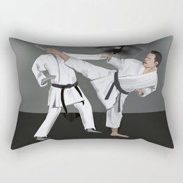 Karate Corky Rectangular Pillow