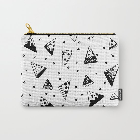 Hipster pizza seamless drawing Carry-All Pouch
