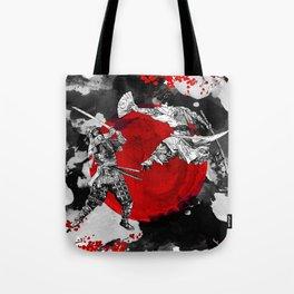 Samurai Fighting Tote Bag