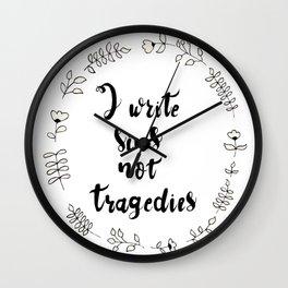 I Write Sins Not Tragedies Wall Clock