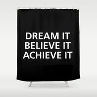 motivational Shower Curtains featuring Motivational by Motivational