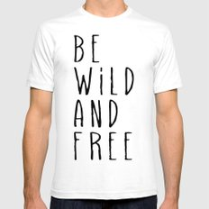 Wild and Free Mens Fitted Tee White SMALL