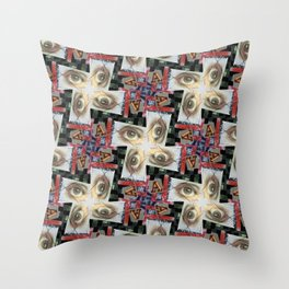 Simulacra Study Quilt Throw Pillow