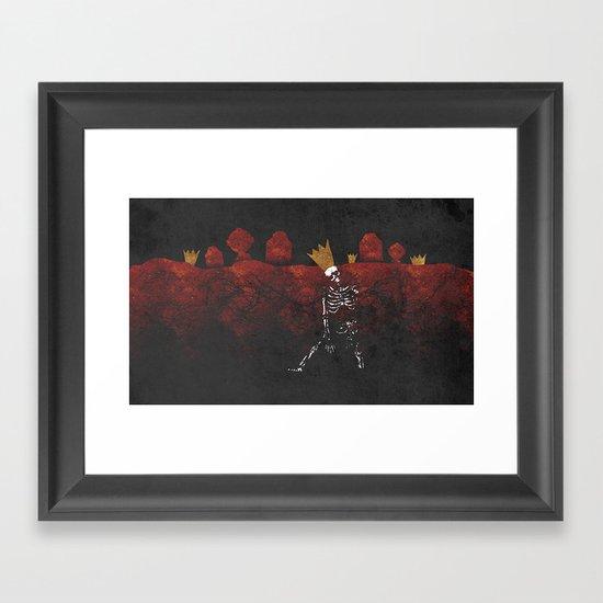 King Nothing Framed Art Print