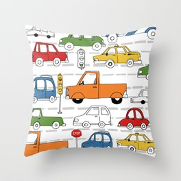 Busy Traffic Pattern Throw Pillow