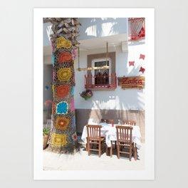 Cafe - Cunda Island Art Print