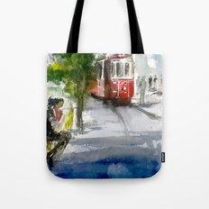 Old Tram in Istanbul Tote Bag