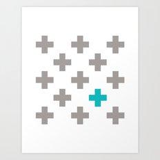 Crossed Art Print