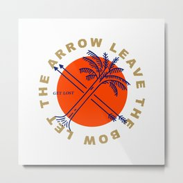 let the arrow leave the bow Metal Print