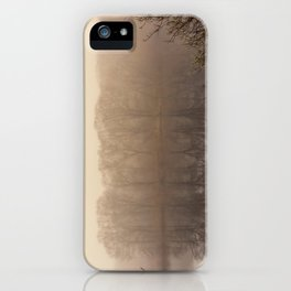 Foggy springtime Reflections iPhone Case