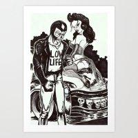 Johnny Veins and Hex Art Print