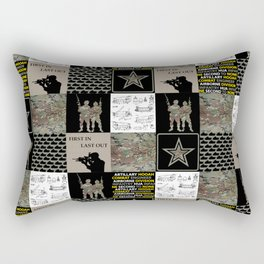 Army Faux Quilt Rectangular Pillow