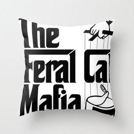 The Feral Cat Mafia Throw Pillow