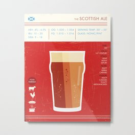 Scottish Ale Beer Art Print Metal Print