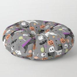Min Pin halloween miniature doberman pinscher cute dog breed gifts Floor Pillow