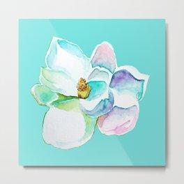Water Magnolia Metal Print