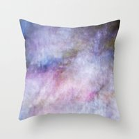 cosmos Throw Pillows featuring Cosmos by Angela Fanton