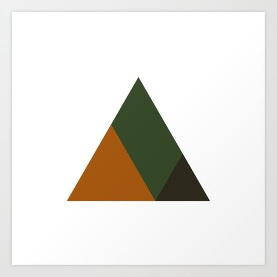 #381 Mountain top – Geometry Daily Art Print
