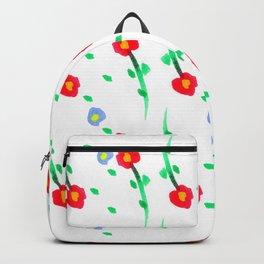 Doodle: flowers pattern Backpack