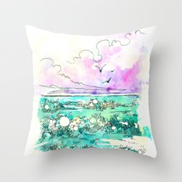 Sea The Beauty Throw Pillow