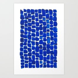 Brick Stroke Blue Art Print